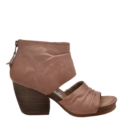Womens heeled sandal patchouli in mauve side