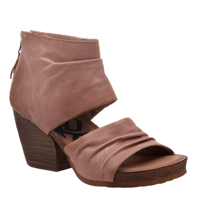 Womens heeled sandal patchouli in mauve