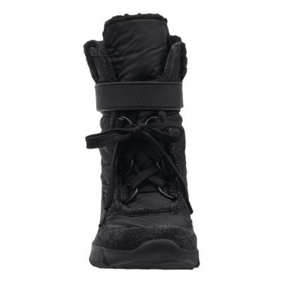 Womens cold weather boot pioneer in black front view