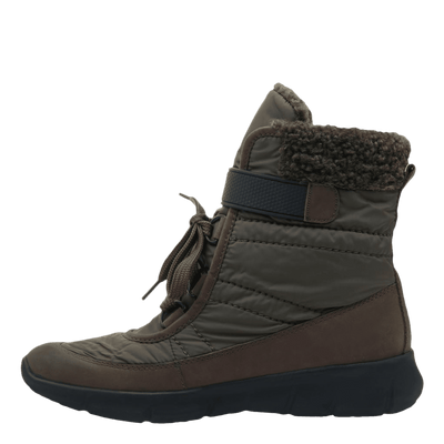 Womens cold weather boot pioneer in mint inside view