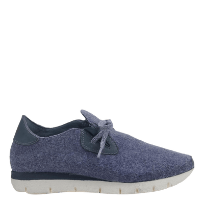Womens sneaker radius in blue marine side