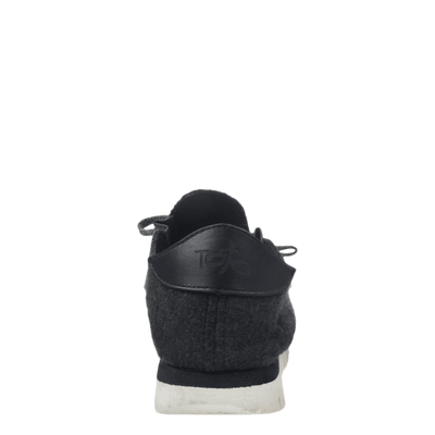Womens wool sneaker radius in charcoal back view