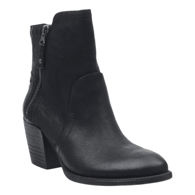 Womens ankle boot red eye in black