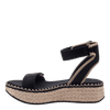 OTBT wedge sandal reflector in black inside view