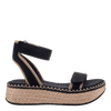 OTBT wedge sandal reflector in black side view
