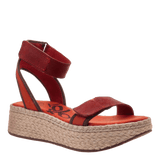 REFLECTOR in CINNAMON Wedge Sandals