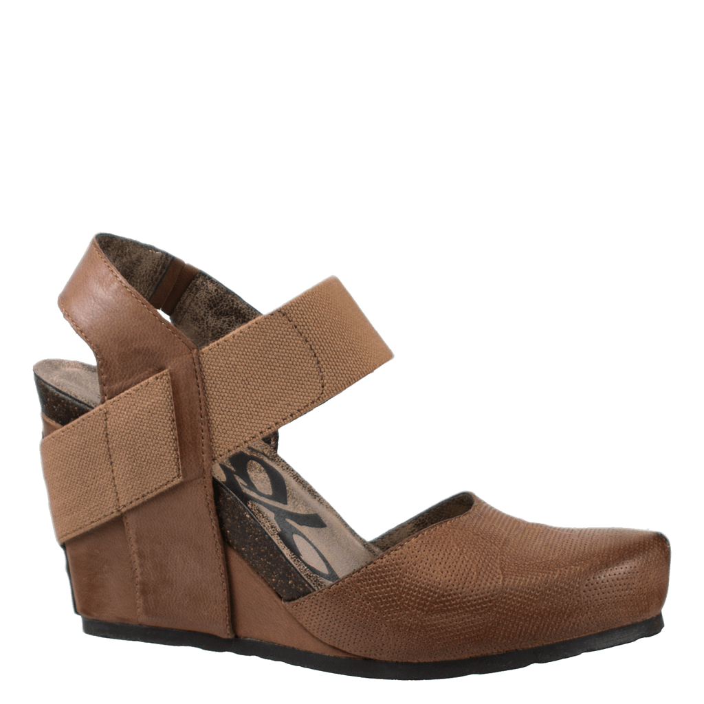 Womens wedge rexburg in dark brown