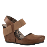 REXBURG in DARK BROWN Closed Toe Wedges