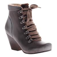 OTBT,Ritchie, Dark Brown, Heel lace up boot with fur