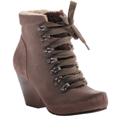 OTBT, Ritchie, Dune, Lace up bootie with fur lining