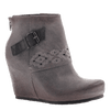 OTBT, Robertson, Soft Grey, Wedge bootie with side buckle
