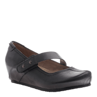 OTBT, Salem, Black Smooth, Wedge with top strap