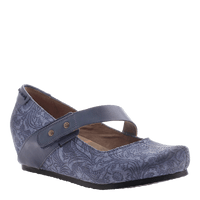 OTBT, Salem, New Blue, Fabric wedge with top strap