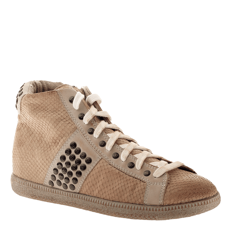 OTBT, Samsula 2 , Bone, Combat sneaker with laces and studs