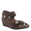 Womens wedge sandal Sandey in Coffeebean