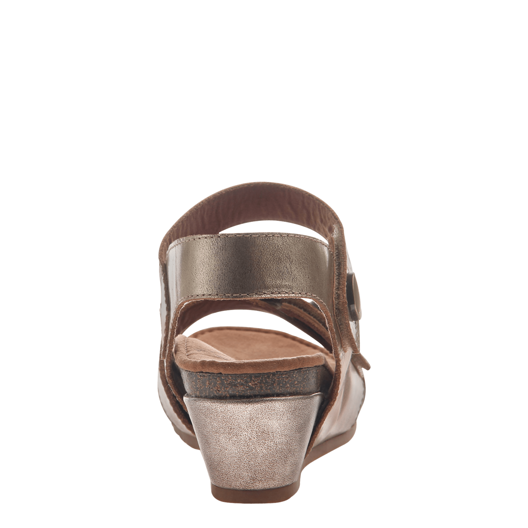 d7033815254b Womens wedge sandal Sandey in Gold back view