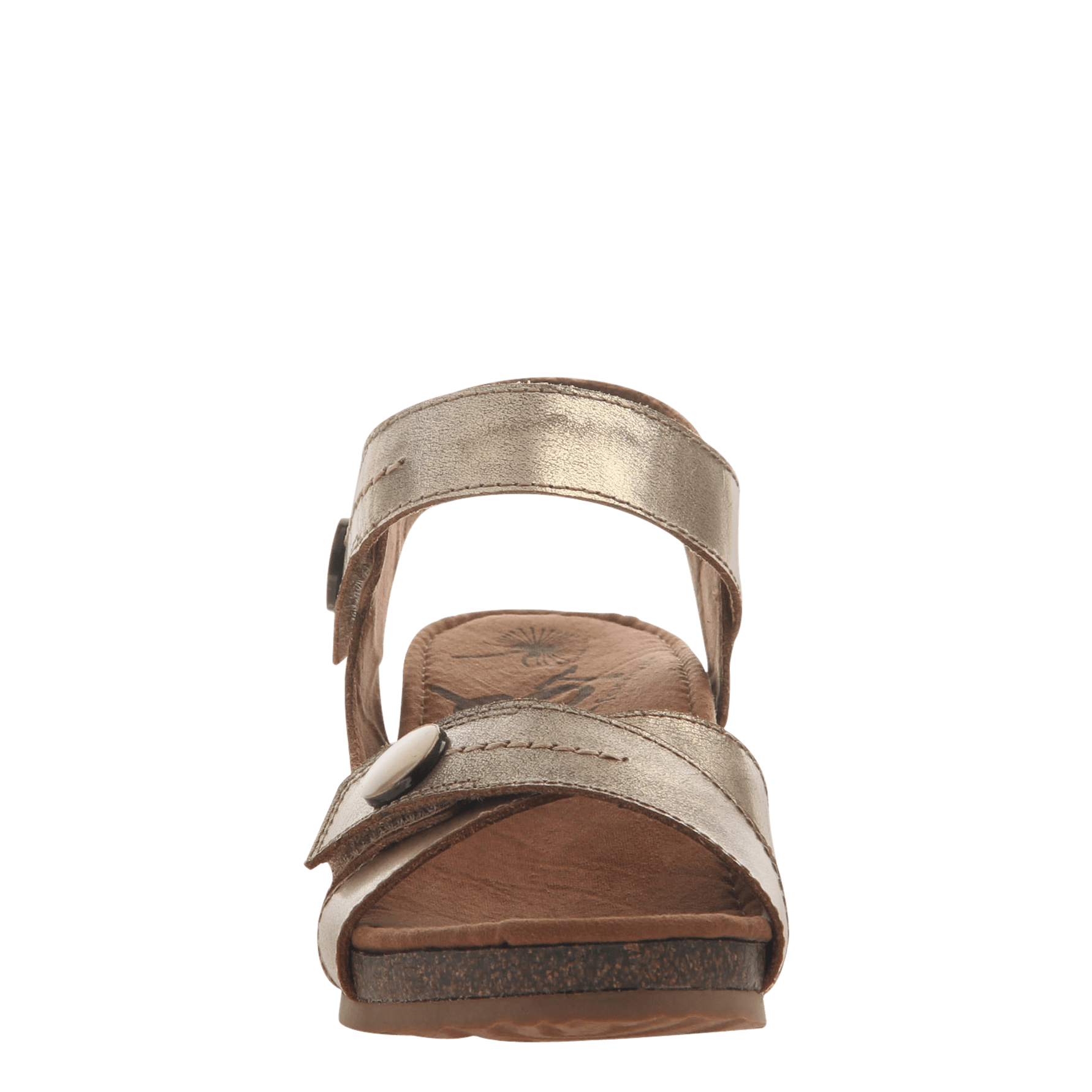 ae109f032ce8 Womens wedge sandal Sandey in Gold front view