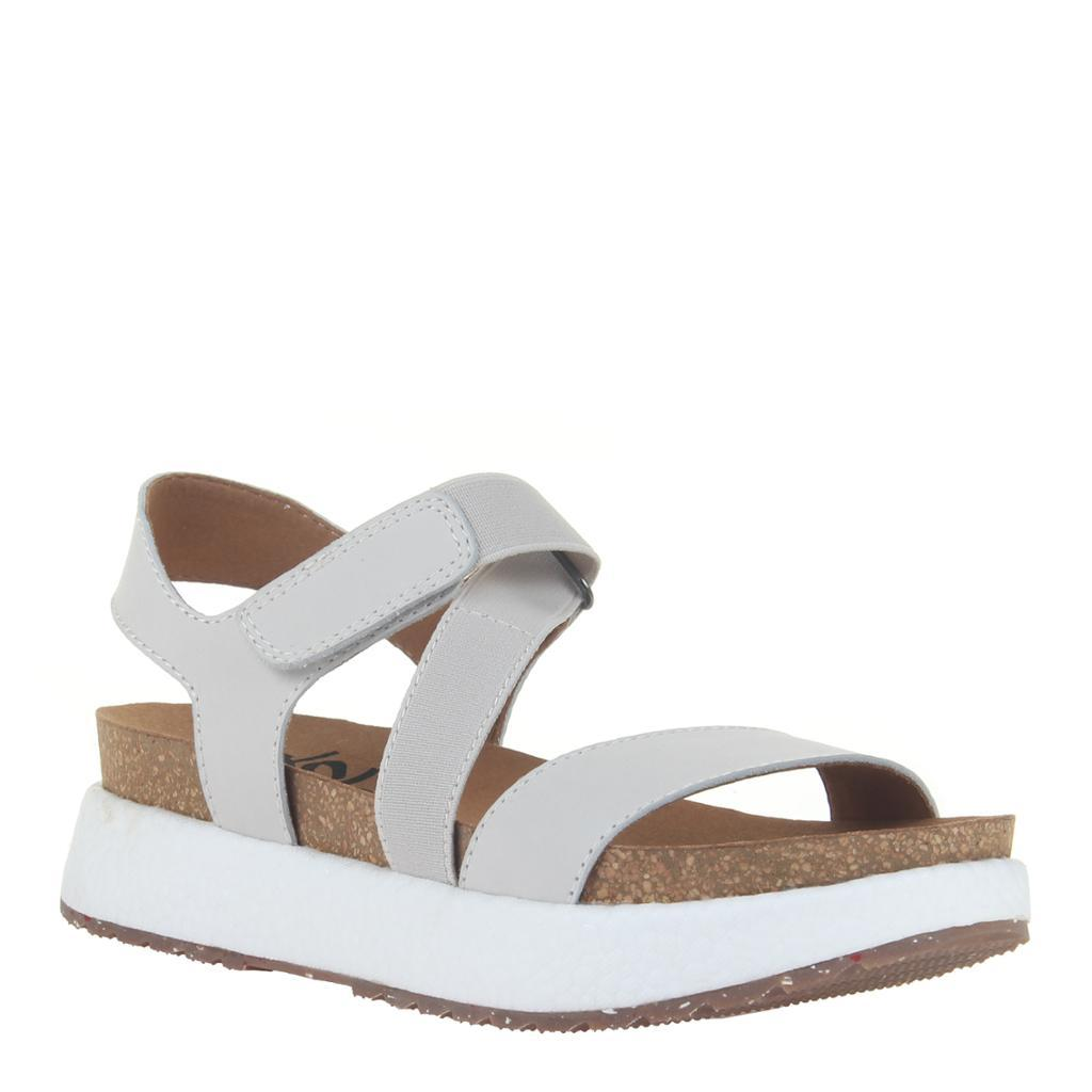 SIERRA in DOVE GREY Wedge Sandals
