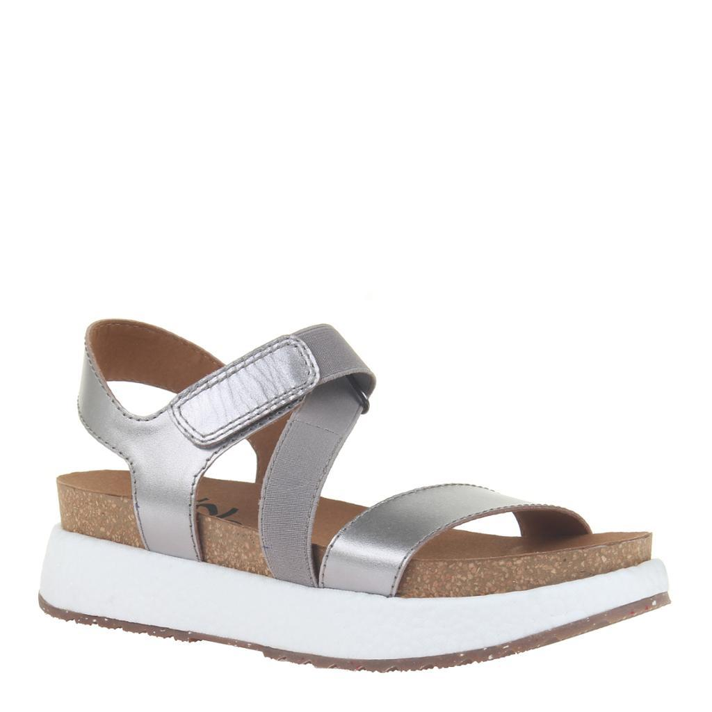 SIERRA in PEWTER Wedge Sandals
