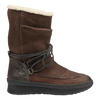 Womens cold weather boot slope in acorn side view