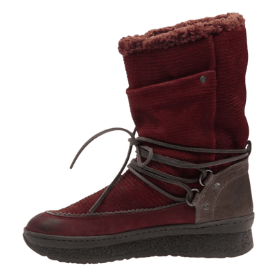 Womens cold weather boot slope in copper inside view