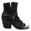 Womens black ankle boot sojourn black side