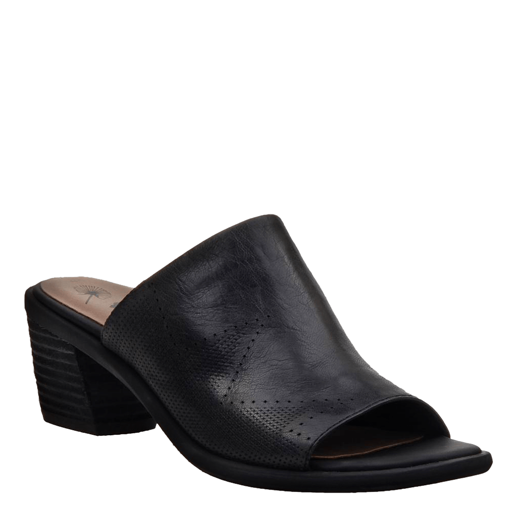 Womens heeled sandal southwest black