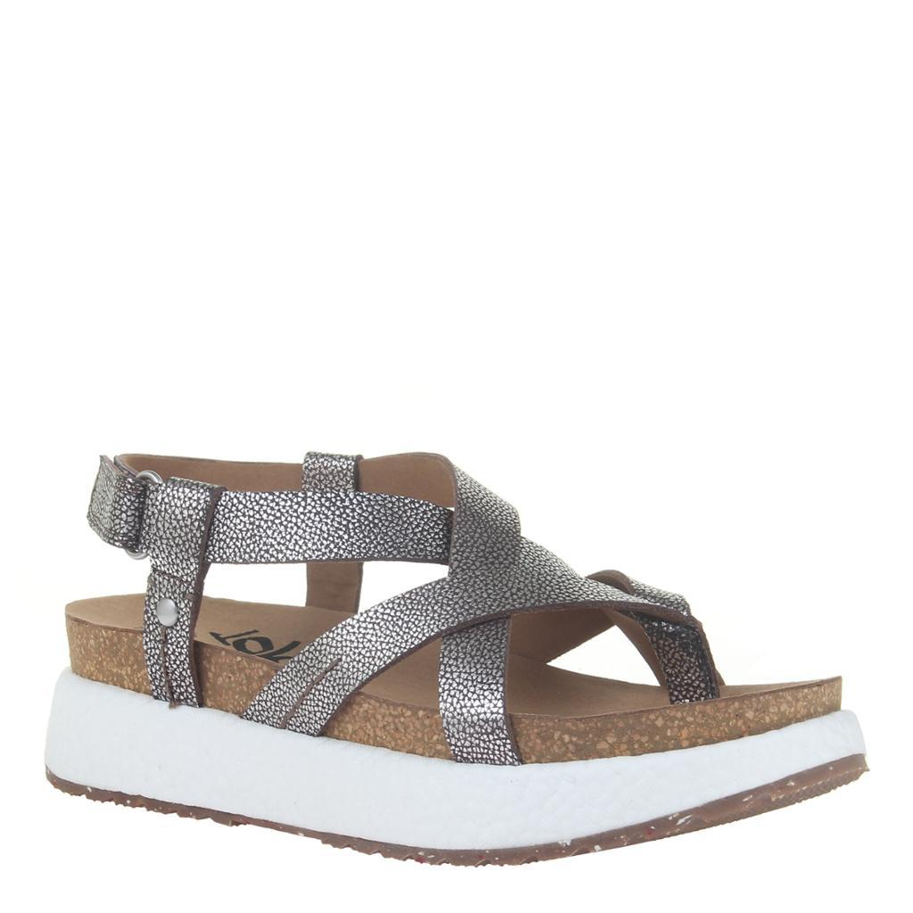 SPRINGER in SILVER Wedge Sandals