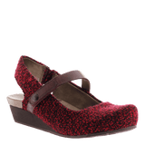 SPRINGFIELD in CURRANT Closed Toe Wedges