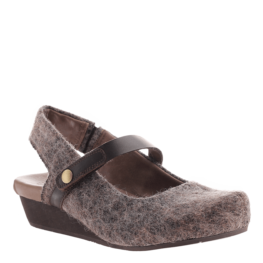 OTBT, Springfield, Fuzzy Brown, Updated mary jane with top strap