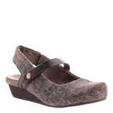 SPRINGFIELD in FUZZY BROWN Closed Toe Wedges
