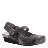 SPRINGFIELD in PEWTER BLACK Closed Toe Wedges