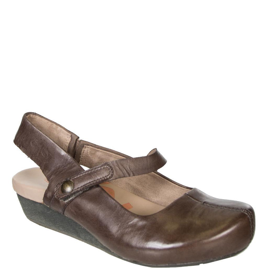 SPRINGFIELD in DARK BROWN Closed Toe Wedges