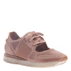 Womens sneaker star dust in blush