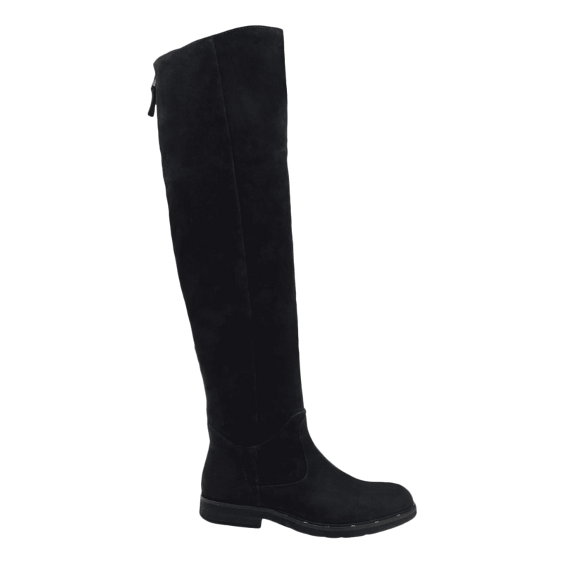 Womens over the knee boot steerage in black