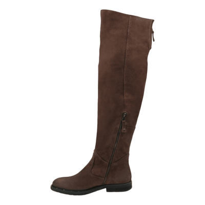 Womens over the knee boot steerage in medium brown inside view