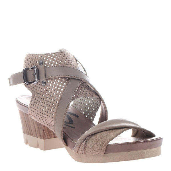 OTBT, Take Off, Stone, Chunky sandal with ankle buckle strap