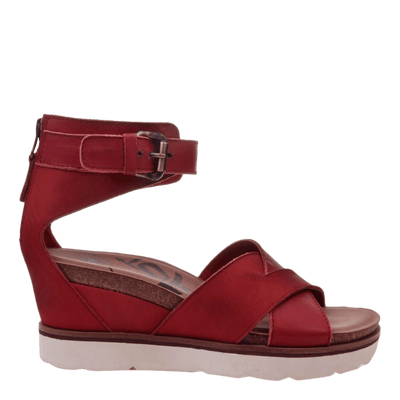 Womens wedge teamwork in apple side view
