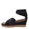 Womens wedge sandal teamwork in black inside