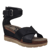 Womens wedge sandal teamwork in black