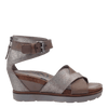 Womens wedge teamwork in grey silver side view