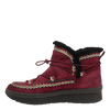 Womens cold weather boot Terreno in cherry inside view