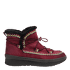 Womens cold weather boot Terreno in cherry side view
