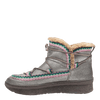 Womens cold weather boot Terreno in grey silver inside view