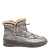 Womens cold weather boot Terreno in grey silver side view