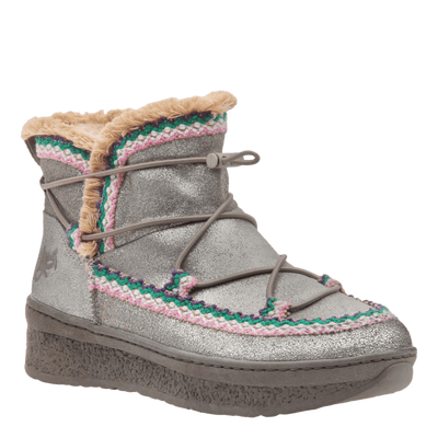 Womens cold weather boot Terreno in grey silver