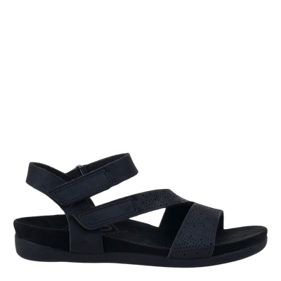 OTBT flat sandal Theodora black side view