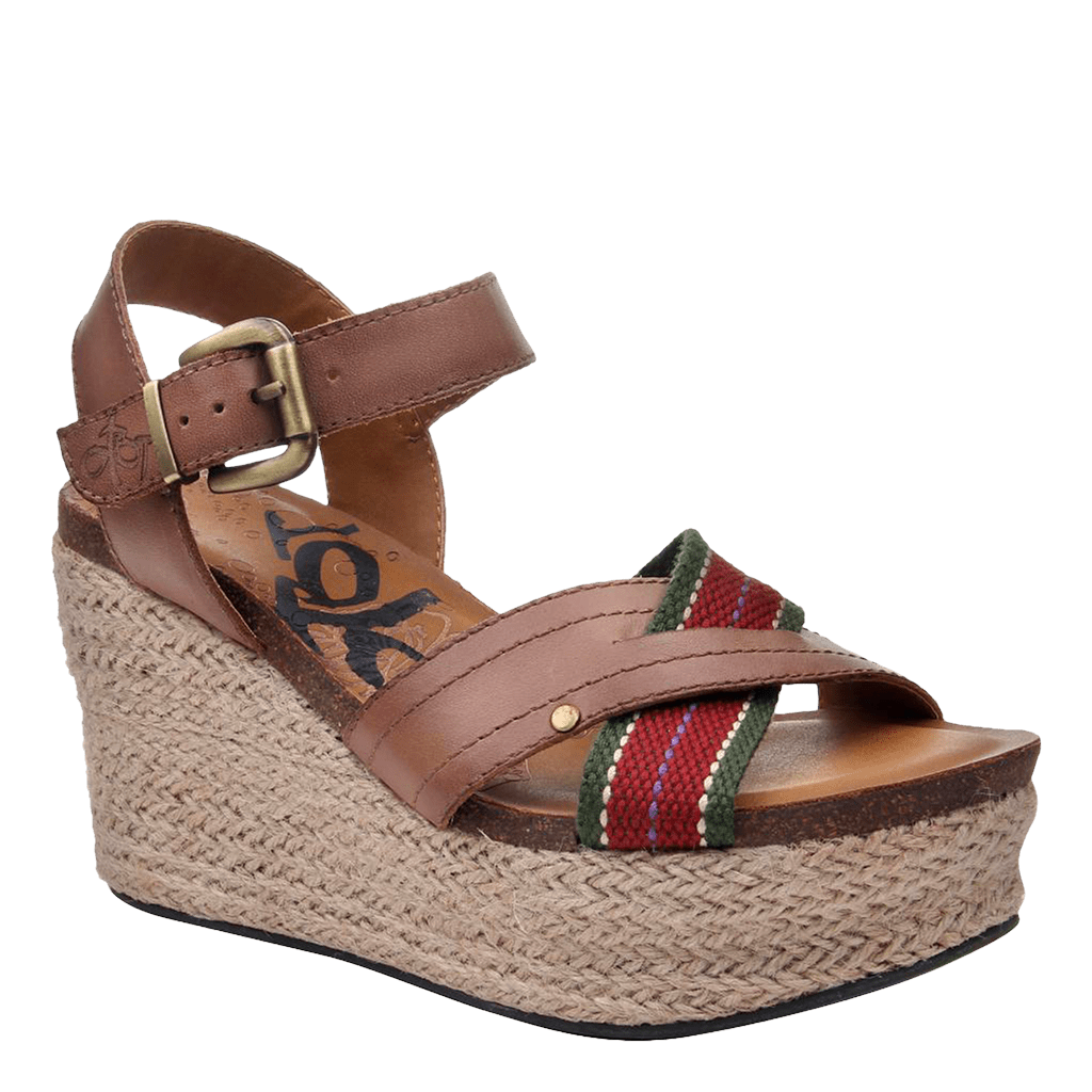 Womens wedge topsail brown sugar