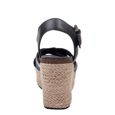 Womens wedge topsail new black back