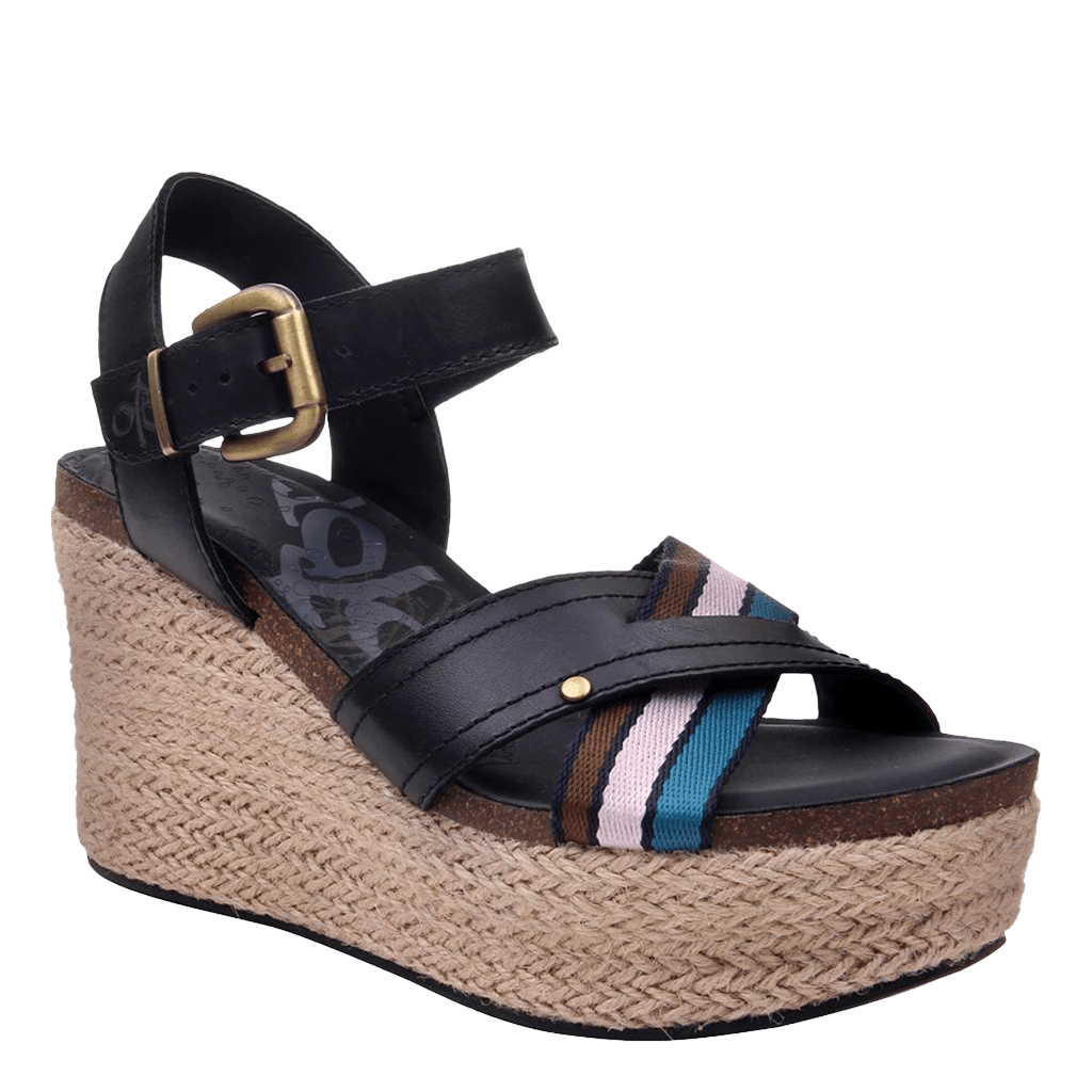 Womens wedge topsail new black